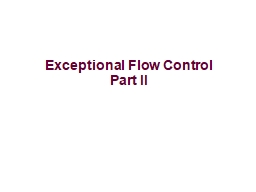 Exceptional Flow Control