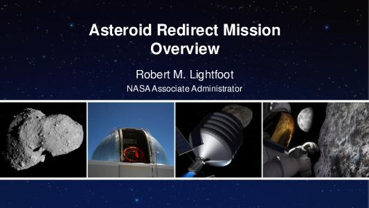 Asteroid Redirect Mission Overview Robert M