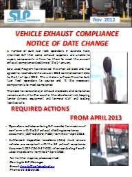 VEHICLE EXHAUST COMPLIANCE PowerPoint PPT Presentation