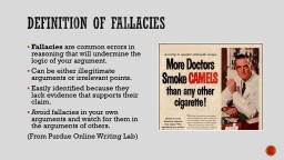 Definition of Fallacies