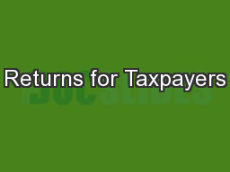 Returns for Taxpayers