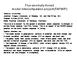 Flux-anomaly-forced