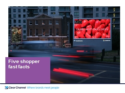 Five shopper                   fast facts