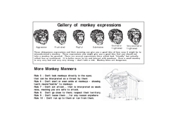 MONKEY MANNERs Misplaced Monkey Mischief  How to Handle Concept and text by Sally Walker with help from Janaki Lenin Sanju Paul Sanjay Molur Sponsored by Awley Wildlife and People www
