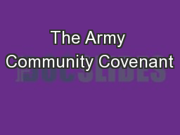 The Army Community Covenant