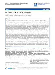 REVIEW Open Access Biofeedback in rehabilitation Oonag