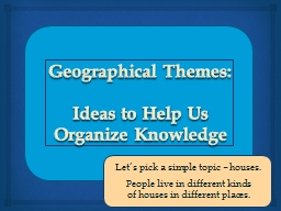 Geographical Themes: PowerPoint PPT Presentation
