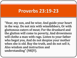 """""""Hear, my son, and be wise; And guide your heart in the w"""