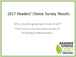 Who are the greenest ones of all? Find out in our annual su