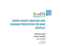 Graph-based analysis and demand prediction for bike rentals