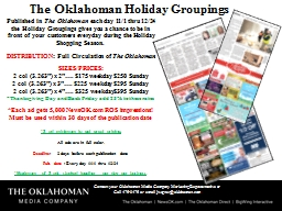 The Oklahoman Holiday Groupings PowerPoint PPT Presentation