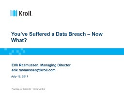 You've Suffered a Data Breach – Now What? PowerPoint PPT Presentation
