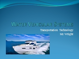 Water Vehicular Systems