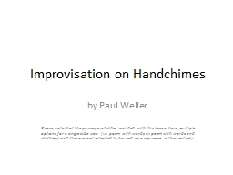 Improvisation on Handchimes