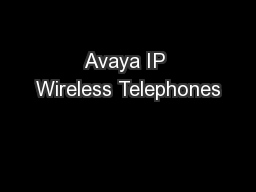 Avaya IP Wireless Telephones