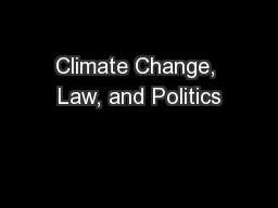 Climate Change, Law, and Politics