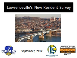 Lawrenceville's New Resident Survey PowerPoint PPT Presentation