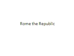 Rome the Republic