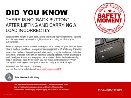 """THERE IS NO """"BACK BUTTON"""" AFTER LIFTING AND CARRYING A PowerPoint PPT Presentation"""