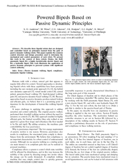 Powered Bipeds Based on Passive Dynamic Principles S