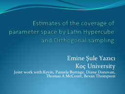 Estimates of the coverage of parameter space by