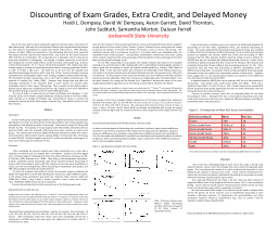 Discounting of Exam Grades, Extra Credit, and Delayed