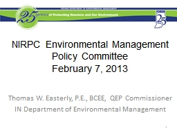NIRPC Environmental Management Policy Committee