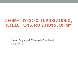 Geometry CCSS: Translations , PowerPoint PPT Presentation