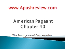 American Pageant Chapter 40