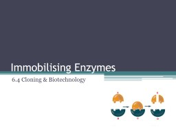 Immobilising Enzymes