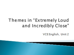 "Themes in ""Extremely Loud and Incredibly Close"""