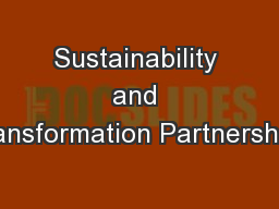 Sustainability and Transformation Partnerships