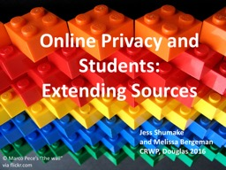 Online Privacy and Students: Extending Sources