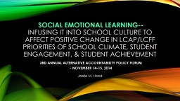 Social emotional learning--
