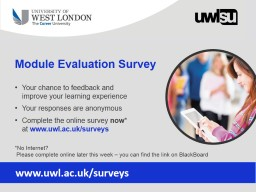 Module Evaluation Survey