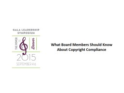 What Board Members Should Know About Copyright Compliance