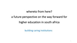 whereto from here? PowerPoint PPT Presentation