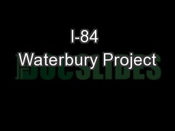 I-84 Waterbury Project