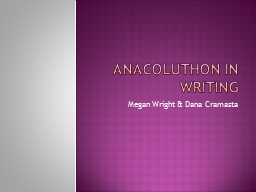 Anacoluthon in Writing