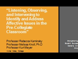 """""""Listening, Observing, and Intervening to Identify and Ad"""