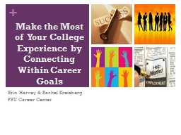 Make the Most of  Your College Experience by Connecting Wit PowerPoint PPT Presentation
