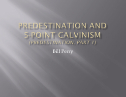 Predestination and       5-point