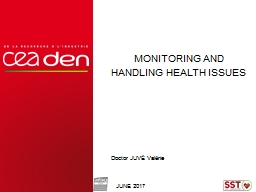 Monitoring and Handling Health Issues