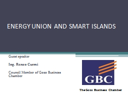 ENERGY UNION AND SMART ISLANDS PowerPoint PPT Presentation