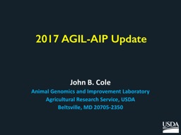 2017 AGIL-AIP Update PowerPoint PPT Presentation