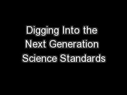Digging Into the Next Generation Science Standards