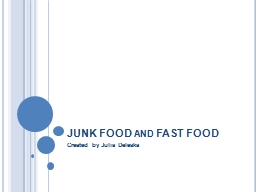 JUNK FOOD and FAST FOOD PowerPoint PPT Presentation