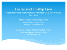 Foster and Kinship Care