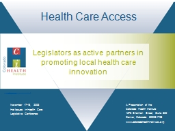 Hot Issues in Health Care Legislative Conference