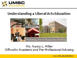 Understanding a Liberal Arts Education